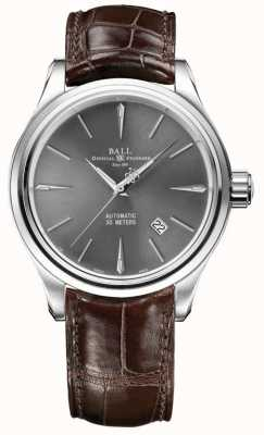 Ball Watch Company Trainmaster Legende grau Sunray Zifferblatt braun Lederband NM3080D-LJ-GY