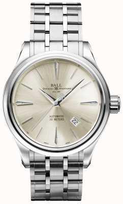 Ball Watch Company Trainmaster Legende automatische Creme Zifferblatt Edelstahl Datum NM3080D-SJ-SL