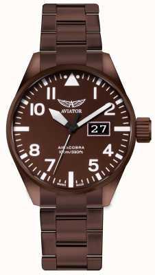 Aviator | herren | airacobra p42 | bronzebeschichtete Stahluhr | V.1.22.8.151.5