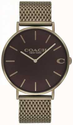 Coach Herren Charles Bronze Armbanduhr 14602147