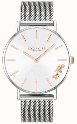 Coach Armbanduhr aus Pony mit silbernem Damenarmband 14503124