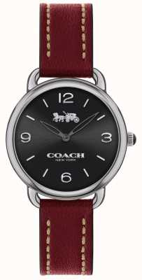 Coach Delancey schlanke Damenuhr rotes Lederarmband 14502792