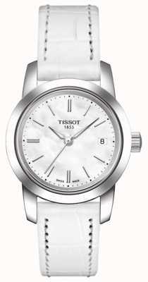 Tissot Klassischer weißer Lederarmband der Frauen T0332101611100