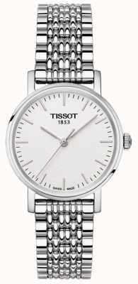 Tissot Damen jedes Mal Edelstahl Armband Silber Zifferblatt T1092101103100