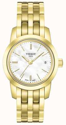 Tissot Klassisches Perlmutt-Zifferblatt mit vergoldetem Armband T0332103311100