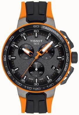 Tissot Herren T-Race Radsport schwarz orange Kautschukband T1114173744104