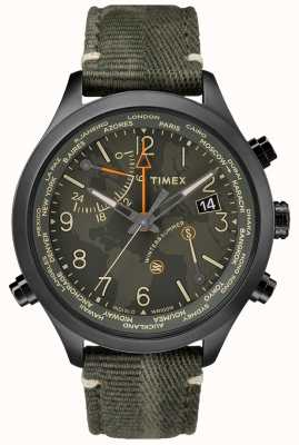 Timex Waterbury Weltzeit 43mm Stoffuhr TW2R43200VQ