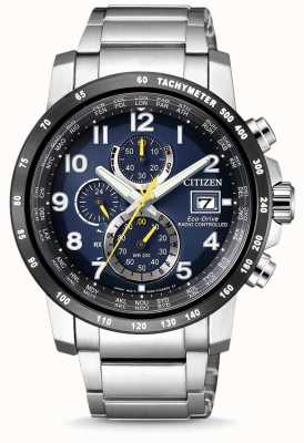 Citizen Eco-Drive Funkuhr Chronographen Weltuhr AT8124-91L
