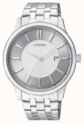 Citizen Mens Quarz Edelstahl minimales Design Datumsanzeige BI1050-56A