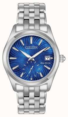 Citizen Damen Eco-Drive Corso Edelstahl blau Perle Zifferblatt Uhr EV1030-57N