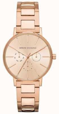 Armani Exchange Lola Damen Rose Gold PVD überzogen AX5552