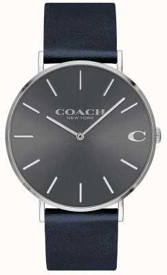Coach Mens Charles Navy Armband grau Zifferblatt Uhr 14602150