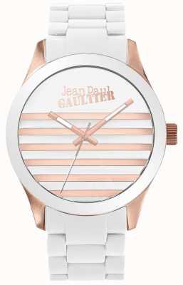 Jean Paul Gaultier Enfants terribles Unisex Uhr aus Weiß- und Roségold JP8501126