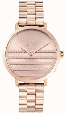 Jean Paul Gaultier Glam Womens Rose Gold Ton Metall Uhr JP8505608