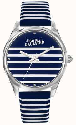 Jean Paul Gaultier Marineblau Damen Streifen Lederband JP8502414