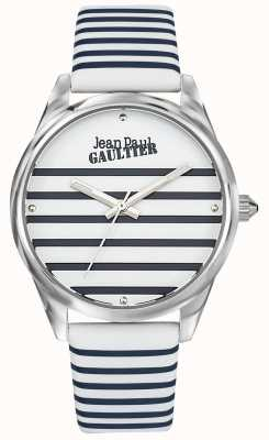 Jean Paul Gaultier Navy Damenarmband mit Streifenuhr JP8502416