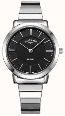 Rotary Womens London Edelstahl Armbanduhr aus Edelstahl LB00765/04