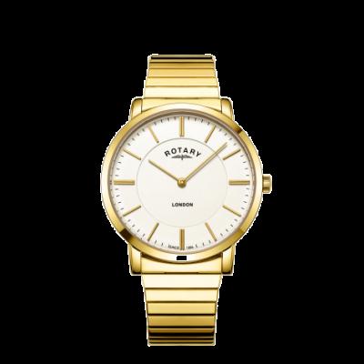Rotary Mens London Gold Edelstahl expandierende Armbanduhr GB02766/03