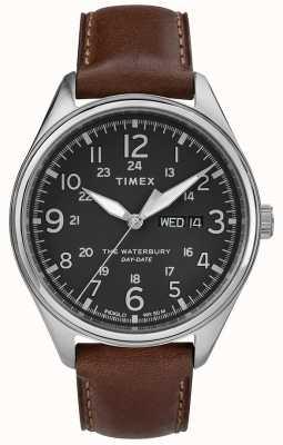 Timex Das waterbury traditionelles Tagesdatum der Männer schwärzen Braun TW2R89000