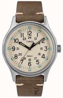 Timex Herren mk1 sst chrono 40mm Gehäuse braun Lederband TW2R96800