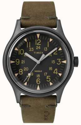 Timex Herren mk1 sst chrono 40mm schwarzes Gehäuse schwarzes Zifferblatt Olivenband TW2R97000