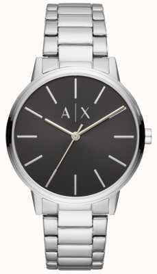 Armani Exchange Mens Edelstahl Uhr schwarzes Zifferblatt Austausch AX2700