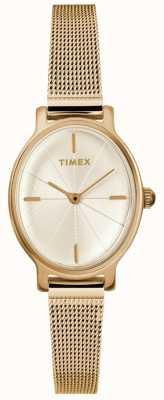 Timex Damen Milano Oval Gold Mesh Uhr TW2R94400D7PF