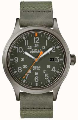 Timex Expeditionsscout Uhr grün Stoffband TW4B14000D7PF