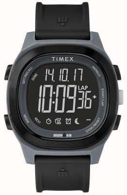 Timex Iron man wesentliche schwarze Uhr mit negativer Anzeige TW5M19000SU