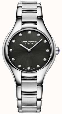 Raymond Weil Womens Noemia Black Diamond Set Zifferblatt 5132-ST-20081