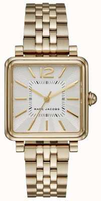 Marc Jacobs Damenuhr Gold-Ton Armband quadratisches Zifferblatt MJ3462