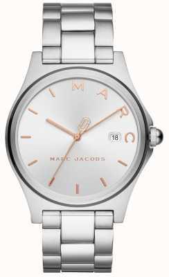 Marc Jacobs Silberner Ton der Frauenhenry-Uhr MJ3583