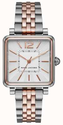 Marc Jacobs Womens Victor Uhr zwei Ton Armband Quadrat Zifferblatt MJ3463