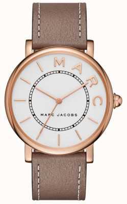 Damen Marc Jacobs klassische Uhr aus grauem Leder MJ1533