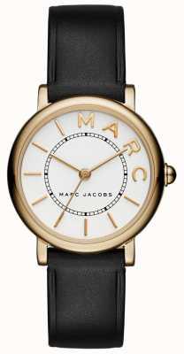 Womens Marc Jacobs klassische Uhr schwarzes Leder MJ1537
