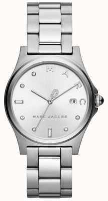 Marc Jacobs Silberner Ton der Frauenhenry-Uhr MJ3599
