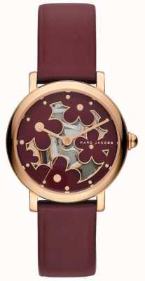 Marc Jacobs Womens marc jacobs klassische Uhr burghunder Leder MJ1629