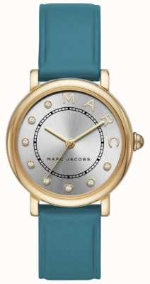 Marc Jacobs Womens marc jacobs klassische Uhr teal leatherr MJ1633