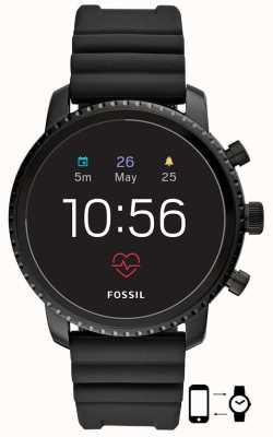 Fossil q Gen 4 explorist hr schwarz Silikon Smartwatch FTW4018