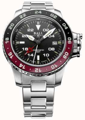 Ball Watch Company Ingenieur Kohlenwasserstoff Aerogmt II 42mm schwarzes Zifferblatt DG2018C-S3C-BK