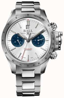 Ball Watch Company Ingenieur Hydrocarbon Racer Chronograph 42mm silbernes Zifferblatt CM2198C-S2CJ-SL