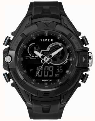 Timex Herren 47mm schwarzes Gehäuse schwarzer Ring schwarzes Band TW5M23300
