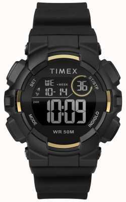 Timex Womens 44mm schwarzes Gehäuse schwarzes Band TW5M23600