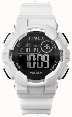 Timex Womens 44mm weißes Gehäuse weißes Band TW5M23700