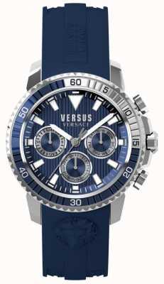 Versus Versace Herren Aberdeen blau Silikonband blaues Zifferblatt S30040017