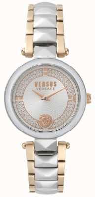 Versus Versace Covent Garden Two Tone Kristalluhr für Damen SPCD250017