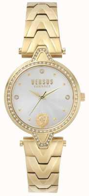 Versus Versace Damen V gegen Stein Set Gold Zifferblatt Gold Pvd Armband SPCI350017