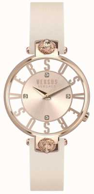 Versus Versace Damen Kristenhof Roségold Zifferblatt rosa Lederarmband SP49030018