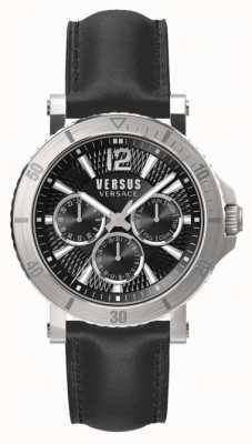 Versus Versace Herren steenberg schwarzes Zifferblatt schwarzes Lederarmband SP52020018