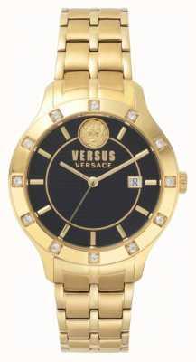 Versus Versace Brackenfell schwarzes Zifferblatt Gold-PVD-Armband SP46030018